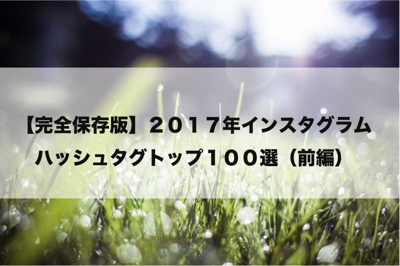 2017年インスタグラムハッシュタグトップ100選の画像