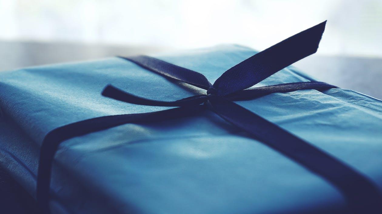 青いプレゼントボックス