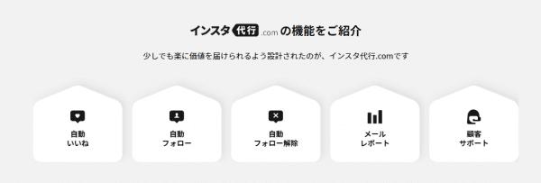 インスタ代行.comの特徴の画像
